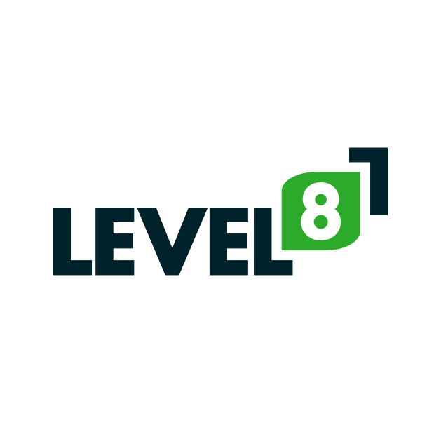 Level8 logo by kewkii.com